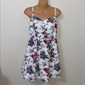 Ann Taylor Loft Wallpaper Floral Bustier Dress